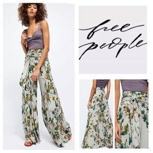 Free People FP One Aloha Printed Wide-Leg.  NWT.